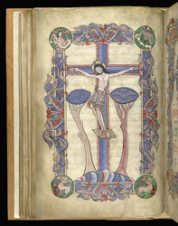 Crucifixion, The Arundel Psalter f.52v